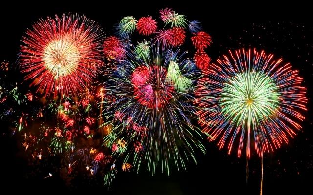 赤川花火大会の花火