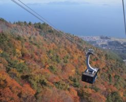 琵琶湖の紅葉